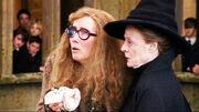 Professor Trelawney and McGonagall closeup