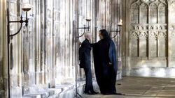 SeverusSnape WB F6 SnapeAndDracoInHallway Still 080615 Land