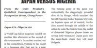 JAPAN VERSUS NIGERIA