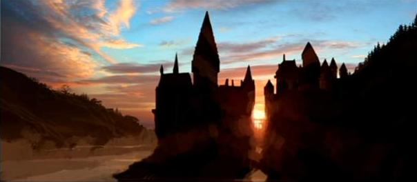 File:Hogwarts castle sunset 02 (Concept Artwork for HP2 movie).JPG