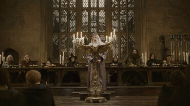 Dumbledore's speech at the Great Hall in 1996.JPG