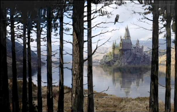 File:Hogwarts castle - view from the Forest 01 (Concept Artwork).JPG
