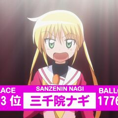 Nagi's Result in the 2nd popularity contest shown in the anime