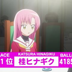 Hinagiku's Result in the 2nd popularity contest shown in the anime