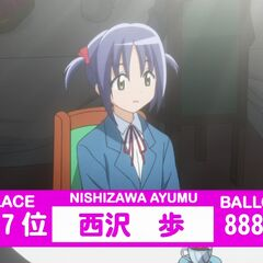 Ayumu's Result in the 2nd popularity contest shown in the anime
