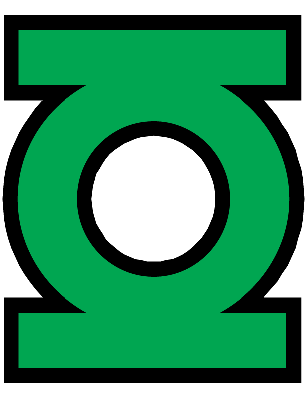 This is a photo of Punchy Green Latern Logo