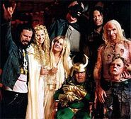 Rob Zombie with cast members.