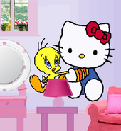 New Tweety and Hello Kitty wall decals.