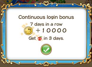 Login bonus day 7