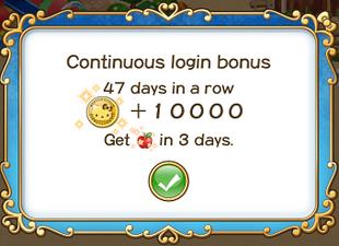 Login bonus day 47