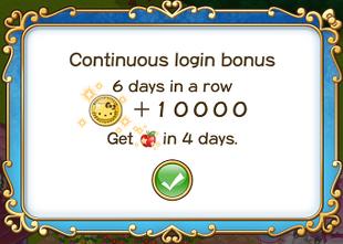 Login bonus day 6