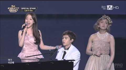 1080p HD 140403 Let It Go - Nichkhun, MinAh, Sugaya Risako, GO, PO