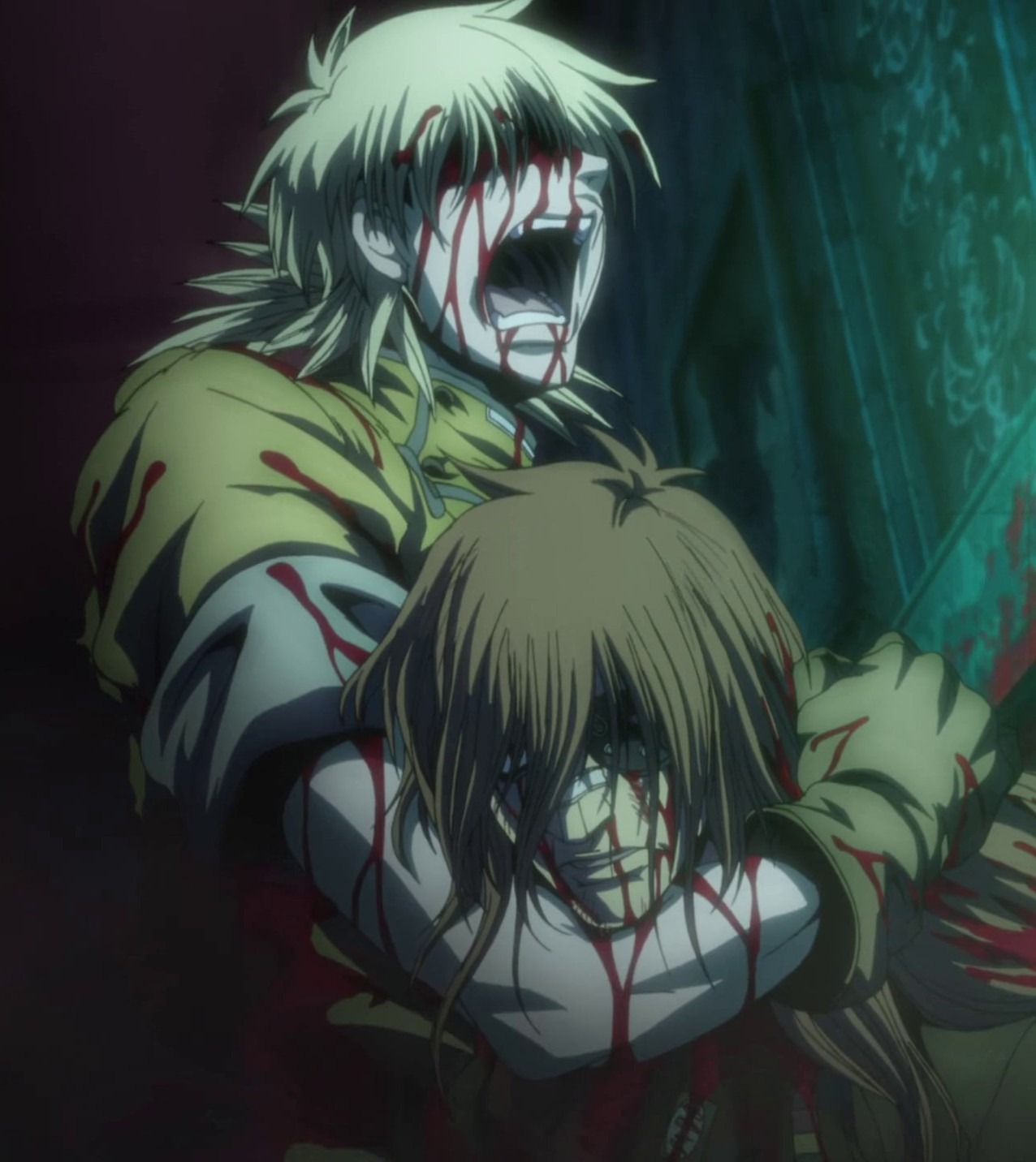 Seras with dead Bernadotte Anime Dying Gif