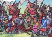 Tycons raid Bird People village