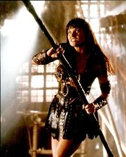 Xena fighting Draco, Sins of the Past