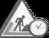 Underconstruction clock icon gray svg