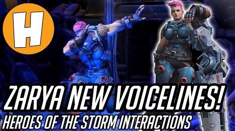 Overwatch - New Zarya Voicelines and Interactions! (Heroes of The Storm)