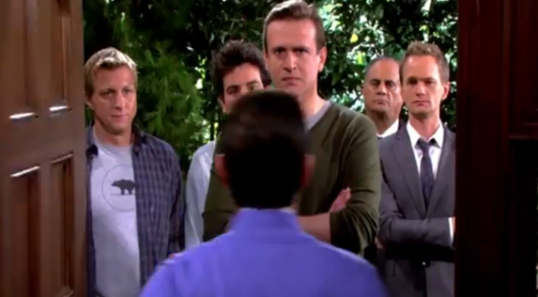 File:Marshall-barney-ted-ranjit-and-billy-zabka-confront-the-captain-on-himym-episode-9-19-daisy.png