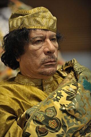 File:Muammar al-Gaddafi at the AU summit.jpg