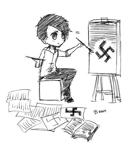 File:Hitler Drawing Swastika.jpg