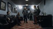 Fegelein keitel jodl krebs burgdorf hallway (generals discussing scene)