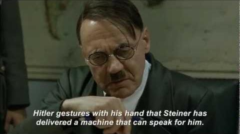 Hitler rants about his synthesized voice