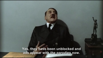 Hitler is informed the Downfall parodies are no longer being blocked