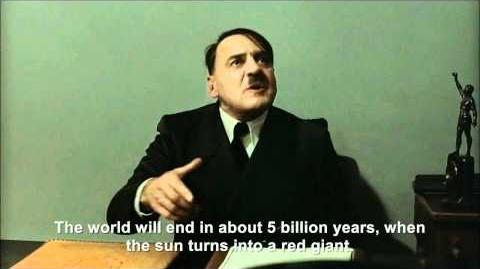 Hitler is informed the world was supposed to end today