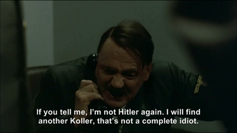 Hitler tries to convince Koller that he's Hitler