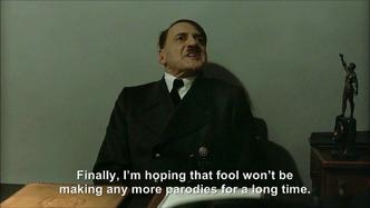 Hitler is informed hitlerrantsparodies is taking a break from making parodies