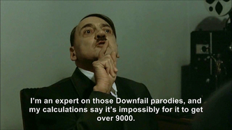 Hitler is informed it got over 9000