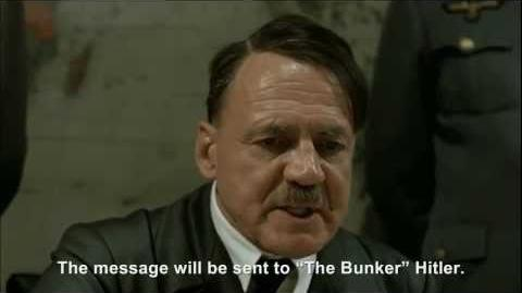 "Hitler plans to send an insulting message to ""The Bunker"" Hitler"