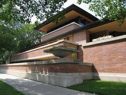 Robie House designed by Frank Lloyd Wright 1909