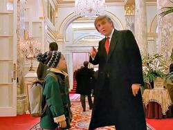 Donald trump in home alone