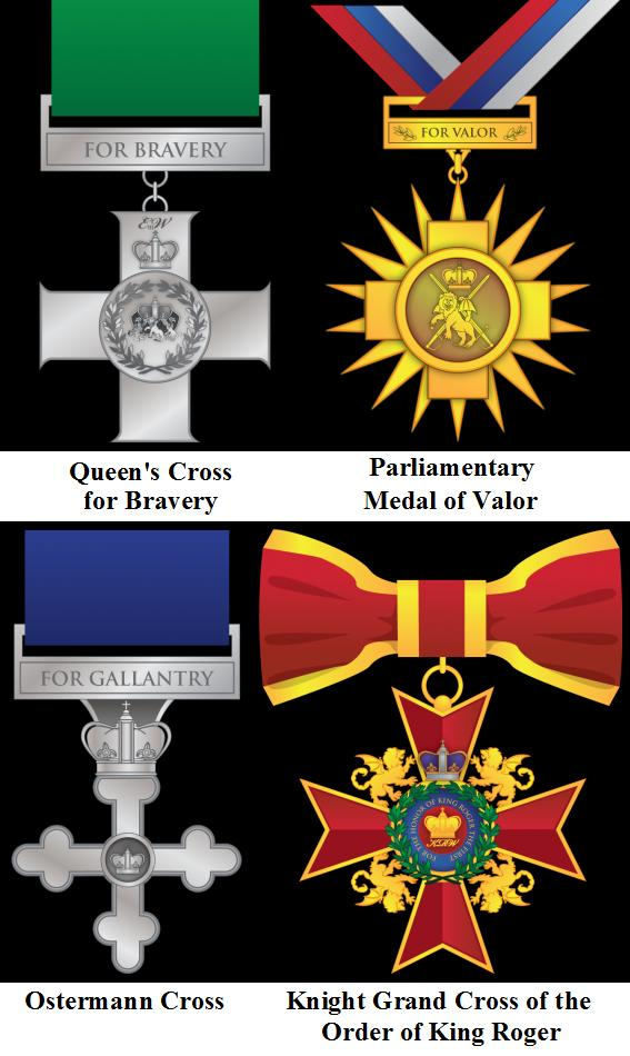 Four medals unvaled 2014