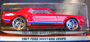 2017 Vintage American Muscle 67 Ford Mustang Coupe Red