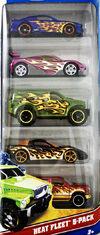 Hot Wheels Heat Fleet 2012 5 pack