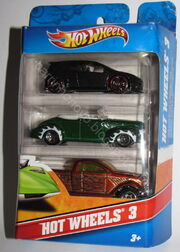 Hot wheels 3-pack golf-gti 40-ford-convertible dodge-power-wagon blr 50 2 marca