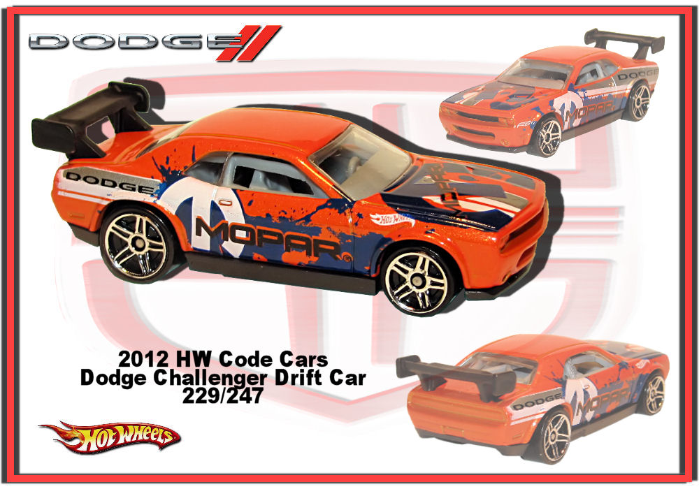 2012 hw code cars dodge challenger drift car - Hot Wheels Cars 2012