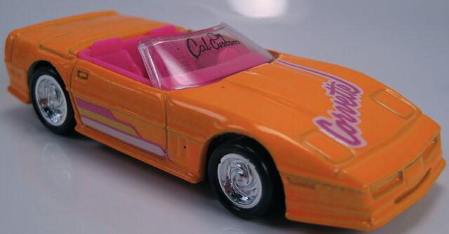 File:Corvette convertible neon orange cal custom 1990.JPG