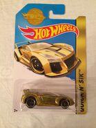 HW Quick N Sik Gold Mattel Promo 2014