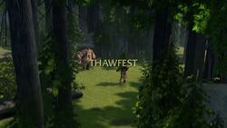 Thawfest title card
