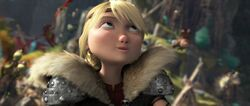 Astrid realizing Hiccup had grabbed the black sheep