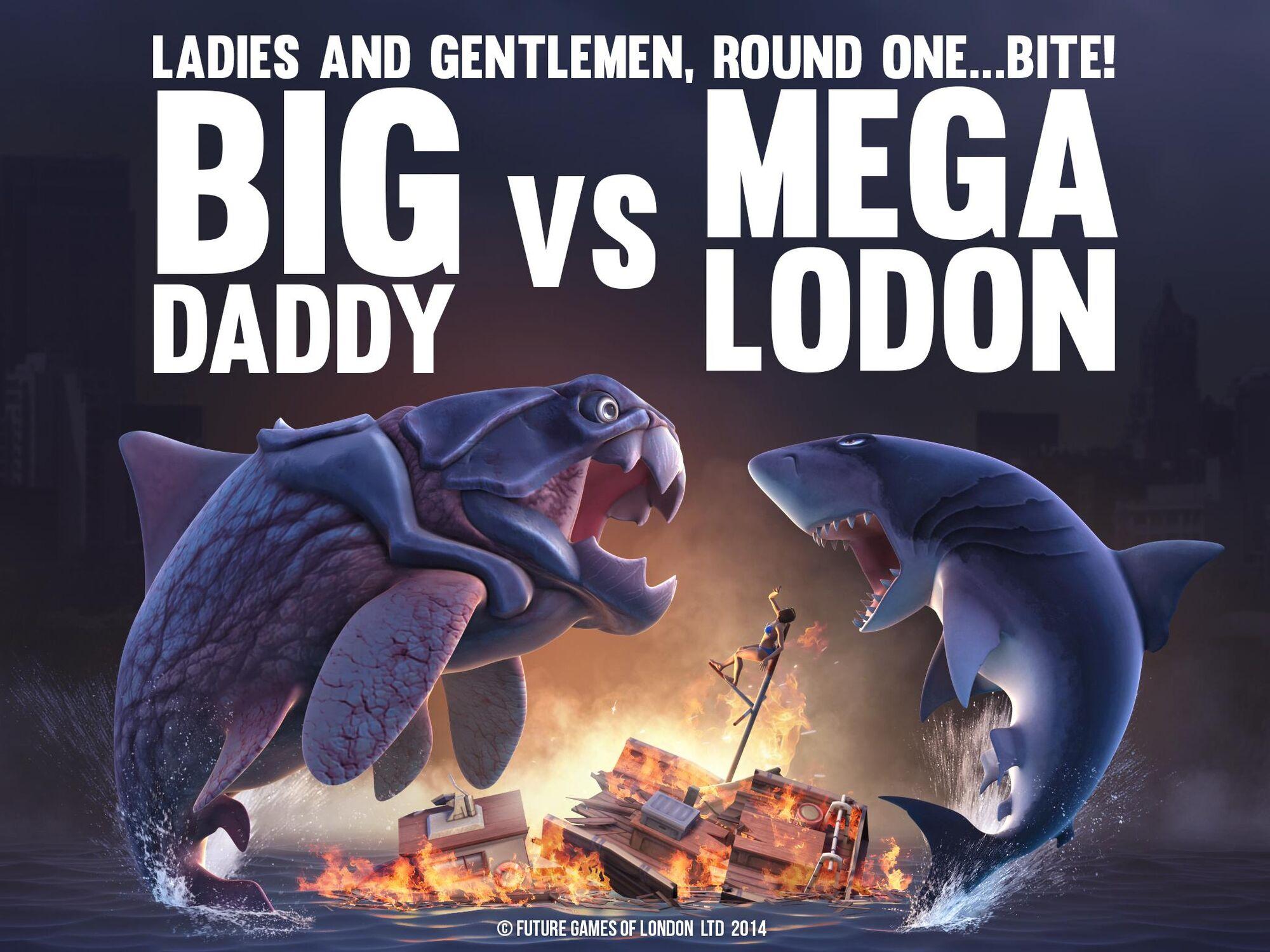 Image Megalodon VS Big DaddyJPG Hungry Shark Wiki FANDOM