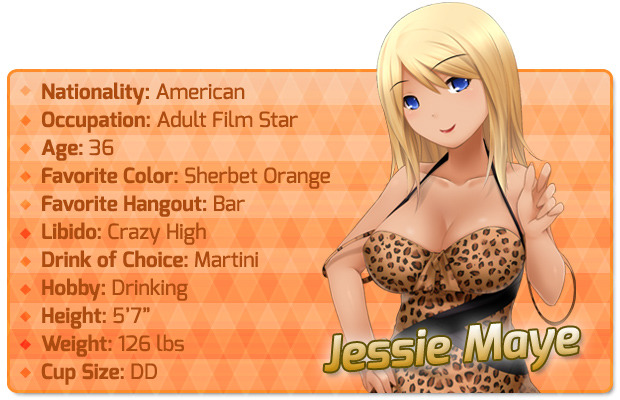huniepop jessie how tall
