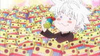 Killua loves sweets
