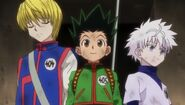Kurapika, gon and killua pass the third phase
