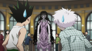 Gon and Killua meet Palm for the first time