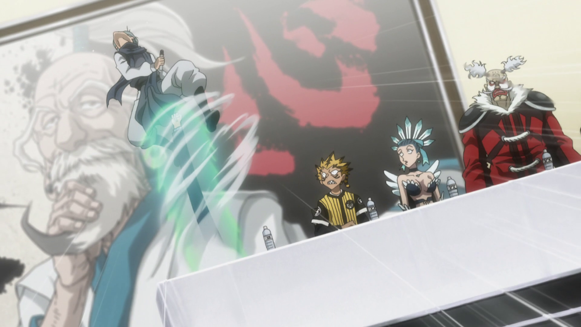 Leorio's warped punch hits Ging.png