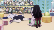 Killua playing dead